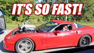 The Auction Corvette is STUPID Fast... FULL SPOOLING On The First Drive!