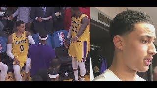"Kyle Kuzma Postgame Reaction to Argument w/ LeBron James ""Everyone Gets Along!"""