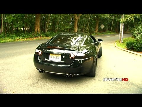 Jaguar XKR w/ Maxflo Exhaust Revving & Accelerations! LOUD Sounds! (1080p HD)