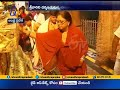 Rajasthan CM Vasundhara Raje Visits Tirumala Temple
