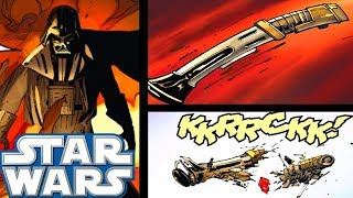 How Darth Vader's NEW Lightsaber Was Destroyed(CANON) - Star Wars Comics Explained