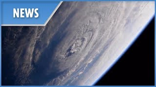 Hurricane Florence: new footage from ISS shows storm easing up