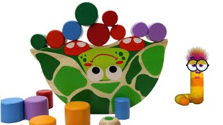 Fun Learning Colors and Numbers with Wooden Toy Turtle | Educational Video for Kids with Wooden Toys