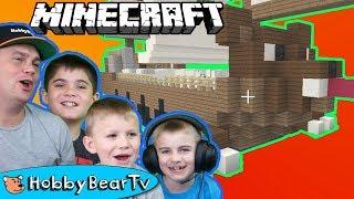 Minecraft Bear Pirateship Built with HobbyBear