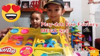 Play-doh Fun Factory MEGA Set | play doh | learn Colors | Learn Shapes | kids