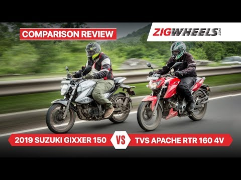 Suzuki Gixxer 2019 vs TVS Apache RTR 160 4V & Performance, Fuel-efficiency & More