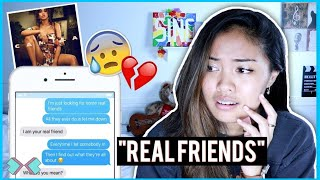 """""""Real Friends"""" SONG LYRIC PRANK ON MY BEST FRIEND! *She Cries* 😢"""