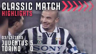 Juventus 5-0 Torino | Gianluca Vialli Scores Hat-Trick In Dominant Derby | Classic Match Highlights