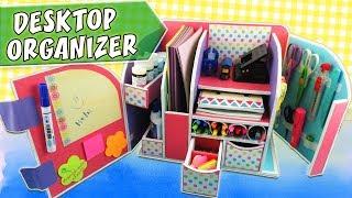 DESKTOP ORGANIZER - Cardboard - Back to school   aPasos Crafts DIY