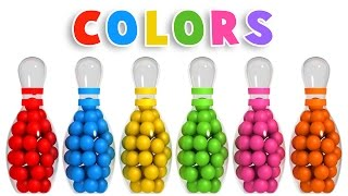 Colors for Children to Learn with 3D Bowling Game - Colours Videos Collection for Children - YouTube