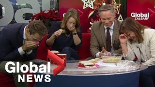 Holiday artichoke dip goes terribly wrong on-air