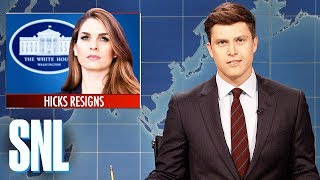 Weekend Update on Hope Hicks's Resignation - SNL