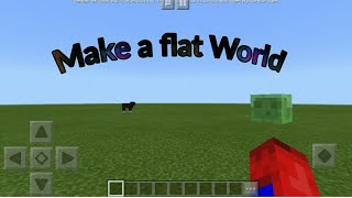 How to make flat world in Minecraft