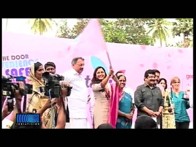Manju Warrier flagged of She Taxi