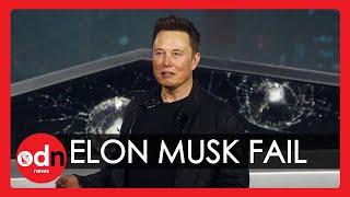 Fail: Elon Musk's Tesla Cybertruck Shatters