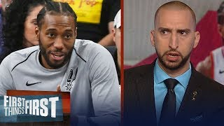 Nick and Cris on Raptors' potential after acquiring Kawhi Leonard | NBA | FIRST THINGS FIRST