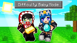 We Played Minecraft BABY MODE!