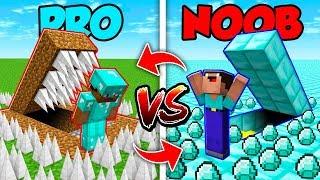 Minecraft NOOB vs. PRO : SWAPPED SECRET BASE in Minecraft (Compilation)