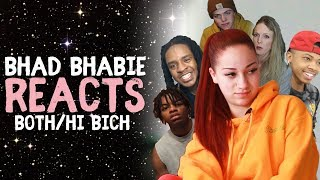 "BHAD BHABIE reacts to ""Hi Bich Remix"" & ""Both Of Em"" Reaction and Roast Vids 
