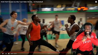 HE SWANGING!! T-Jass HUGE FIGHT Breaks Out After Trash Talker Did This... 5v5 Basketball!