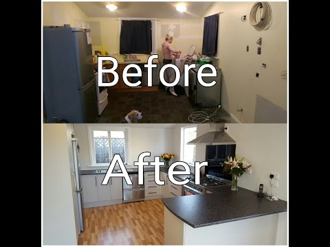 DIY FULL kitchen renovation TIMELAPSE