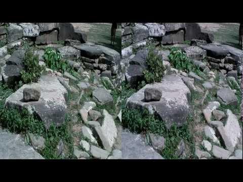 Дольмены на реке Жане в 3D. Dolmens on the river Jeane.