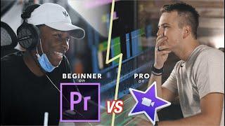 Beginner on Adobe Premiere VS. Pro on iMovie - Editing Showdown!