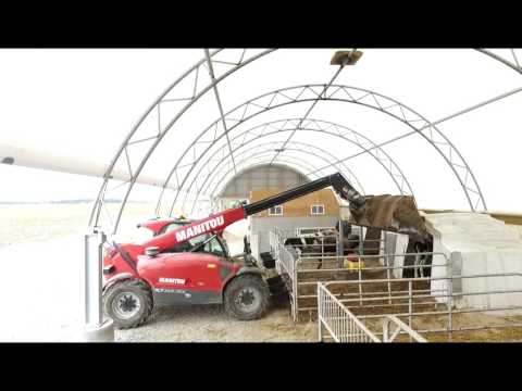 Webstone Holsteins 30' x 240' Atlas Building Series for Calf Barn Drone Tour