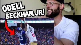Rugby Player Reacts to ODELL BECKHAM JR Top 10 NFL Catches YouTube Video