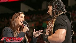 Roman Reigns doesn't back down to the McMahon family: Raw, January 4, 2016