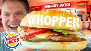 BURGER KING aka HUNGRY JACKS WHOPPER REVIEW - Fast Food Friday Food Reviews - Greg's Kitchen