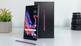 Samsung Galaxy Note 9 Unboxing with Camera Test