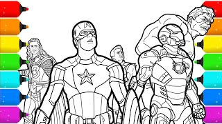 The Avengers Superhero Coloring Pages