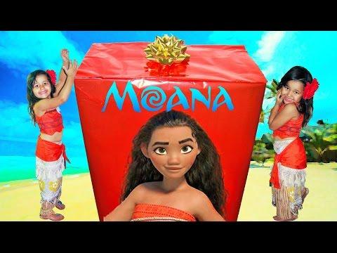 Disney Princess Moana IRL Biggest Surprise Box Opening Moana Toys Maui Pua
