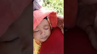 Baby funny sleep