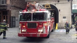 """FDNY Ladder 8 """"GhostBusters"""" Responding First Due To Canal Street In Lower Manhattan"""