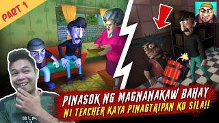 Pinasok ng Magnanakaw Bahay ni Teacher - Scary Robbers Part 1