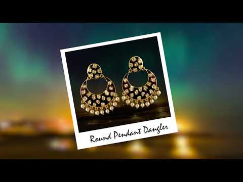 MK Jewellers- Meenakari Kundan Bali Collection