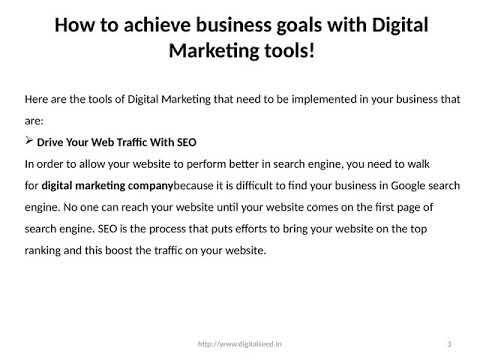 hHow to achieve business goals with Digital Marketing tools! – Digitalseed| Digital Marketing Company,  Pune.