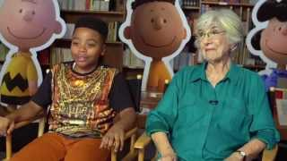 "The Peanuts Movie ""Franklin"" Official Movie Interview - Mar Mar & Harriet Glickman"