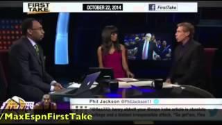 First Take   Phil Jackson Defends Kobe Bryant