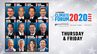 Watch Live: MSNBC's Climate Forum 2020 (DAY 1) | MSNBC