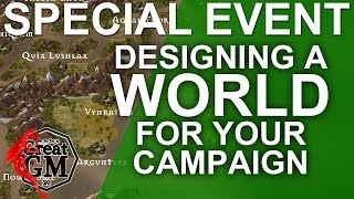 Intro: Drawing and Populating a Complete Map of your World