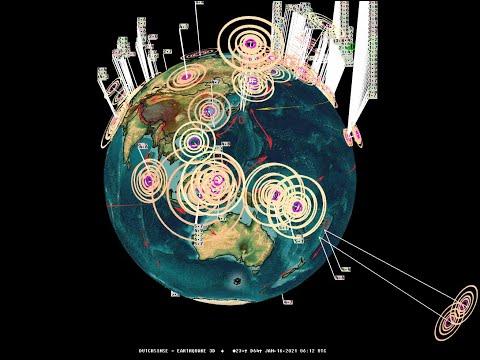 1/16/2021 -- Earthquake activity picks up -- West Coast USA California + Oregon seismic activity due