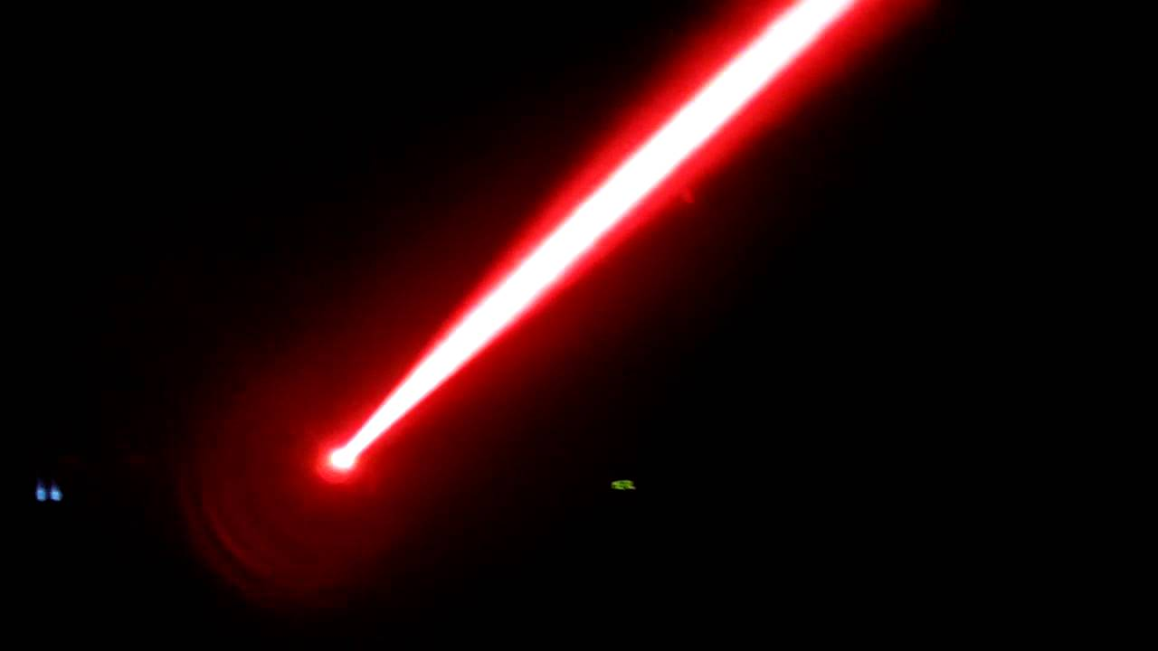 49mW Sanyo 635nm laser Beam with Fog - YouTube