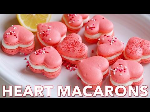 Dessert: Heart Macarons Recipe with Lemon Buttercream - Natasha's Kitchen