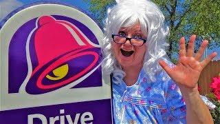 Taco Bell Granny McDonalds Rides Bike Nachos Gorditas Empanada