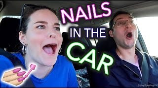 Painting my Nails in the Car