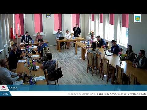 Obrady XXI Sesji Rady Gminy Gminy Chrostkowo w dniu