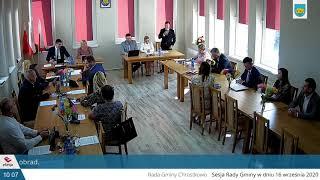Obrady XXI Sesji Rady Gminy Gminy Chrostkowo w dniu 16.09.2020 r.